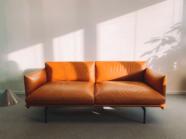 direct sunlight on a leather couch