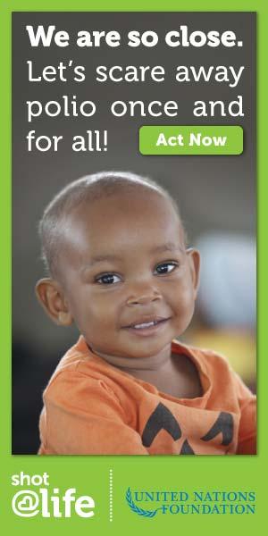 UN polio campaign ads